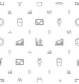 bar icons pattern seamless white background vector image vector image