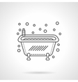 Bathtub icon flat line design icon vector image