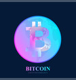 bitcoin physical bit coin bitcoin digital vector image vector image