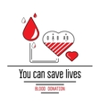 Blood donation icons vector image vector image