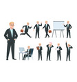 business person businessman character vector image