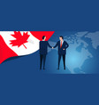 canada international partnership diplomacy vector image vector image