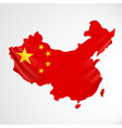 China flag in form of map people republic of