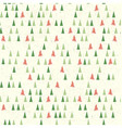 Christmas pattern with tree Seamless background vector image