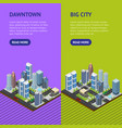 city landscape construction skyscrapers and high vector image vector image
