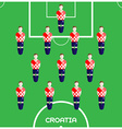 Computer game Croatia Football club player vector image vector image