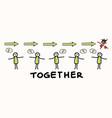 corona virus crisis together work as one banner