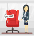 cute cartoon character hr manager and empty boss vector image