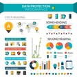 Data Protection Infographics vector image vector image
