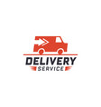 delivery service with truck van vector image