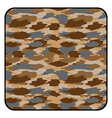 Desert camouflage button vector image vector image