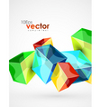 digital cubes vector image vector image