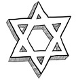 doodle star of david vector image vector image