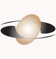 ellipsoid sphere vector image vector image
