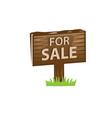 for sale sign vector image vector image