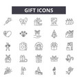 gift line icons for web and mobile design vector image