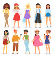 girl young female teenager character vector image