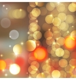 gold blurred lights vector image