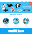 Graphic Design Template For Website vector image vector image