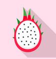 half pitaya icon flat style vector image vector image