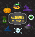 halloween traditional elements set vector image vector image