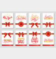 happy new year and merry christmas set gifts vector image vector image