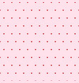 hearts seamless pattern pink background vector image