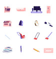 icons set oven conditioner and tv vector image vector image