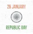 india republic day vintage label template retro vector image