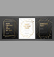 Invitation template gold lines on a black