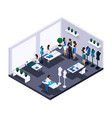 isometric tailor room atelier process of sewing wo vector image