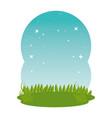 meadow grass landscape scene vector image