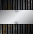 metallic label with grille rusty vector image vector image