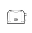 outline kitchen toaster vector image