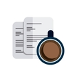 paper documents with business icon vector image