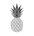 pineapple with leaf tropical silver exotic fruit vector image vector image