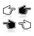 Pixel cursor poiting hands icons vector image vector image