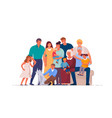 portrait big happy family many people vector image