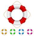 set of life buoys vector image