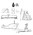 set oil industry objects vector image vector image