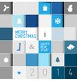 Simple modern minimalistic christmas card vector image vector image