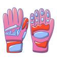 ski winter gloves icon cartoon style vector image vector image