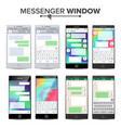 smartphone isolated on white background messenger vector image