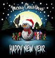snowman from volleyball balls with sparklers vector image