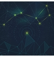Space background with constellation vector image vector image