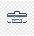 sport bag concept linear icon isolated on vector image