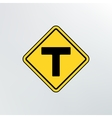 T intersection icon vector image vector image