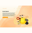 teamwork on finding new ideas little people vector image