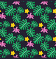 tropical plants seamless pattern vector image vector image
