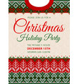 ugly sweater christmas party invite knitted vector image vector image